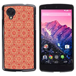 Licase Carcasa protectora para LG Google Nexus 5 - Cool Abstract Pattern