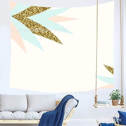 xkjymx Simple Rosa geométrica Colgar Tela habitación Dormitorio ...