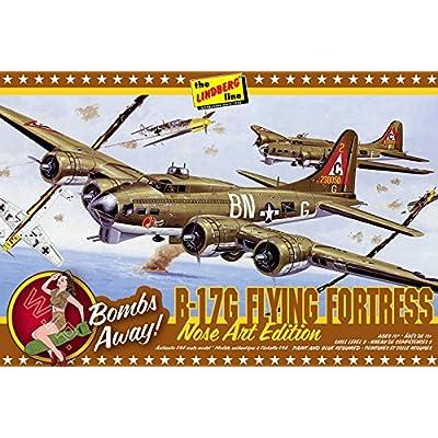 Lindberg Models 1:64 Scale B-17G Nose Art Edition Model Kit: Toys & Games