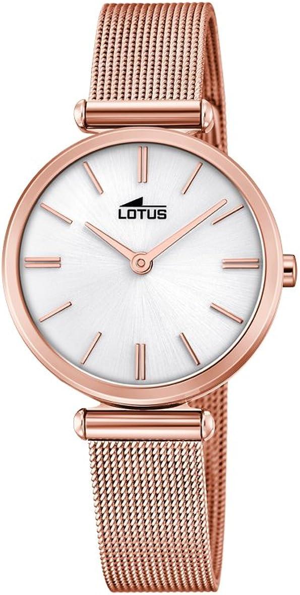 Lotus Watches Reloj Análogo clásico para Mujer de Cuarzo con Correa en Acero Inoxidable 18540/1