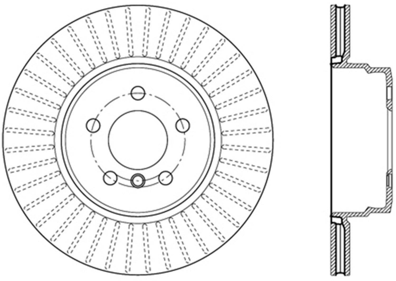 Centric 121.34095 Disc Brake Rotor