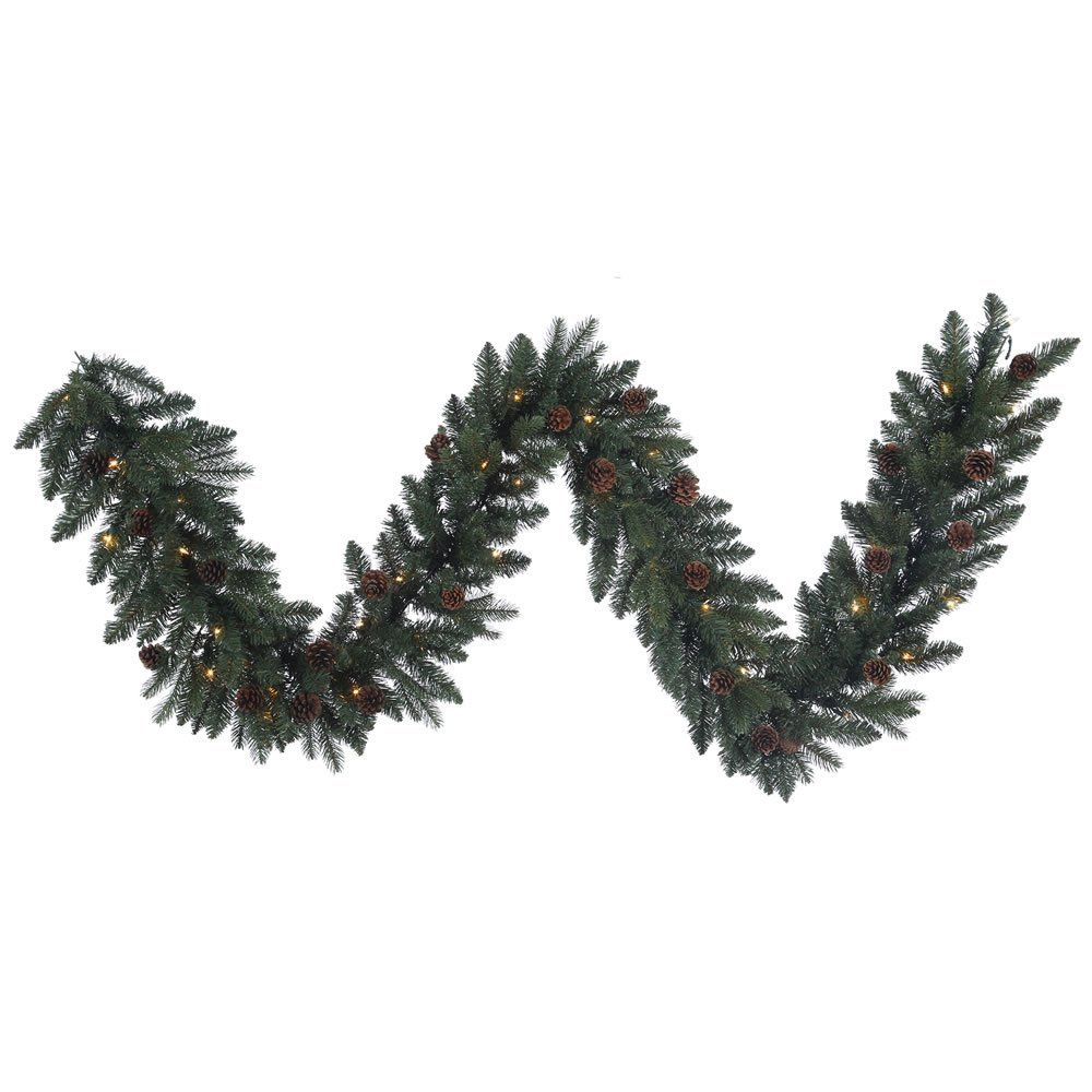 Vickerman B154914 Spruce Garland with 50 Lights & 200 Tips, 9' x 14'', Aberdeen