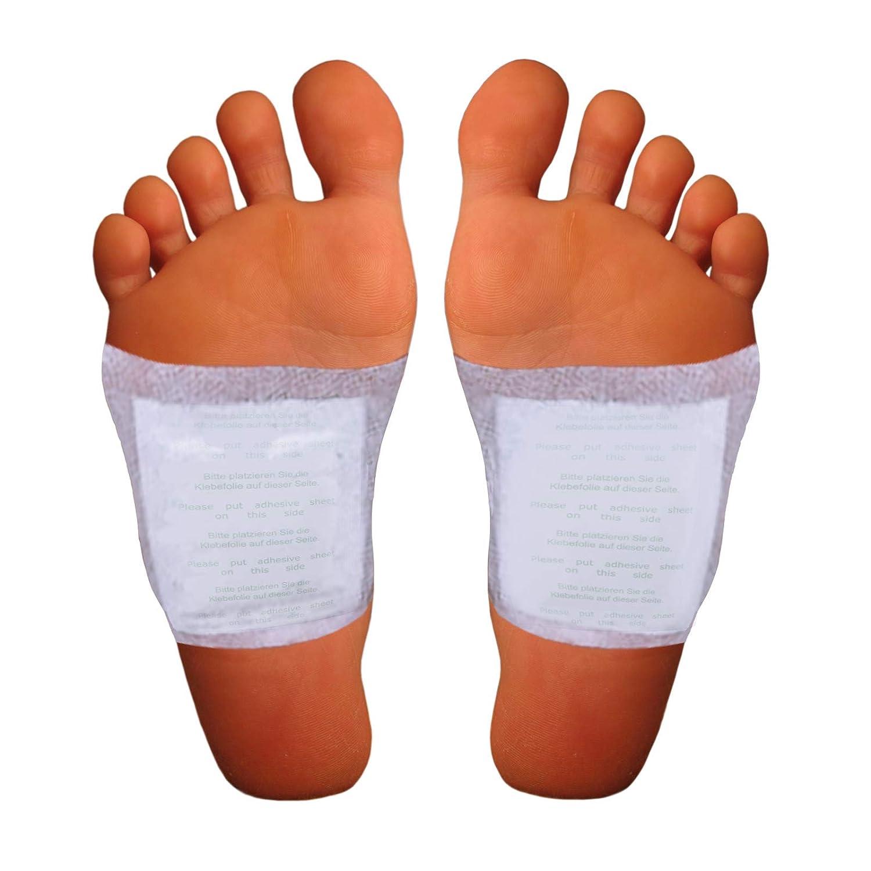 Cerotti per piedi ad azione disintossicante e purificante, con cuscinetti di bambù per migliorare la vostra salute, 10 cerotti detox Vitalpflaster per dimagrire in modo naturale. con cuscinetti di bambù per migliorare la vostra salute Sody Products