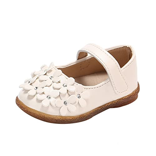 Zapatos para bebé Niñas Vestir Fiesta Flor Princesa Sandalias Zapatitos Planos Mocasines Bebé Niña Zapatillas de Baile de Cuero Primeros Pasos: Amazon.es: ...