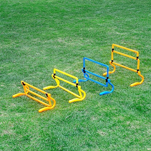 RuiyiF Adjustable Speed Training Hurdles,Removable Assembled Footwork Hurdle for Football Soccer Speed Training Agility