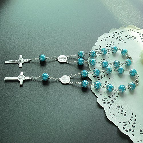 Rosary Turquoise Medal - 5