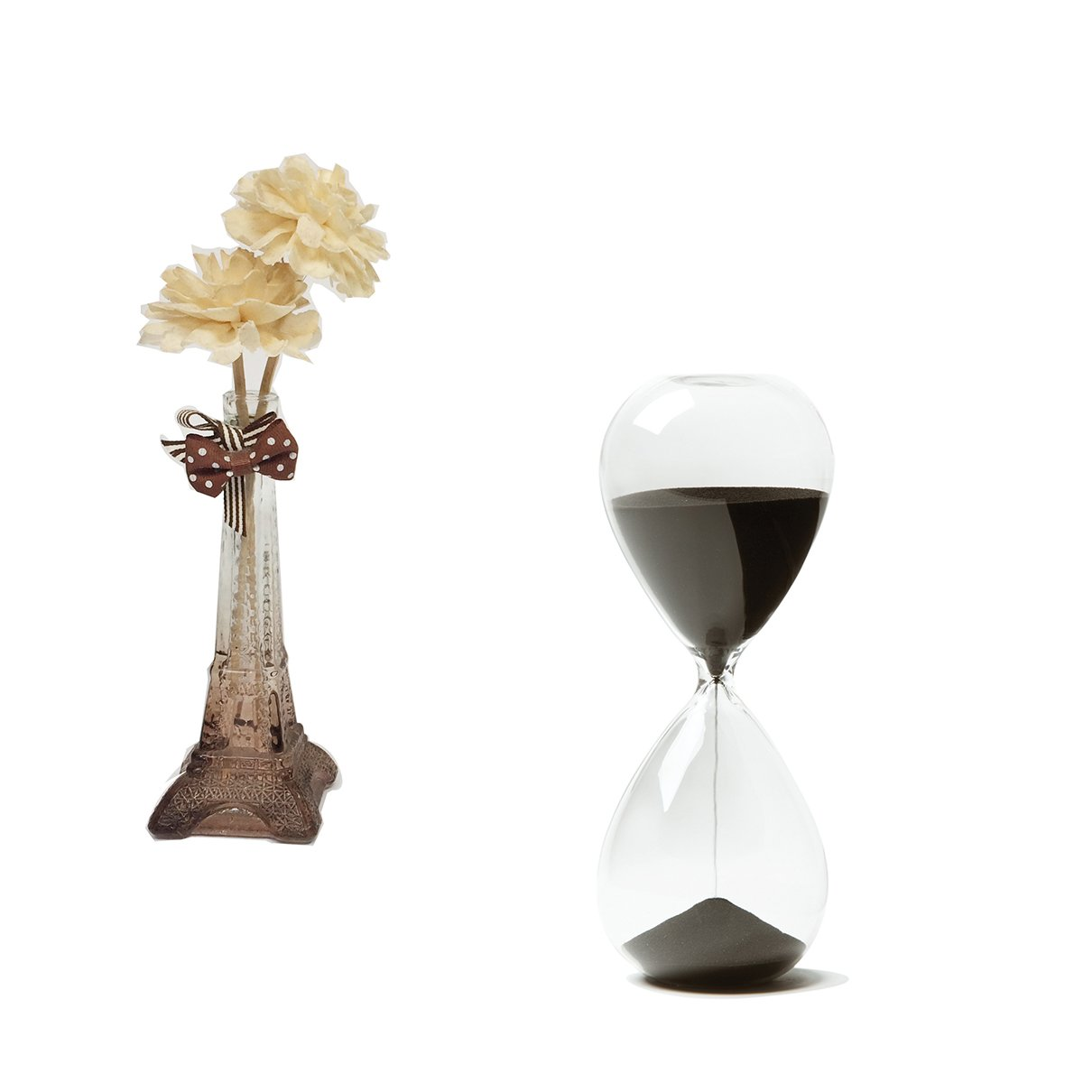 hovebeaty hourglass hand blown sand timer set for time management