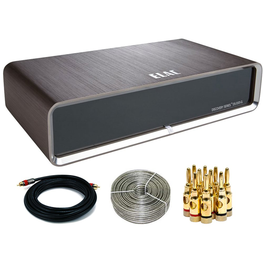 Elac 30000-Track Discovery Music Server DS-S101-G with Wireless & Airplay (DS-S101-G) Accessories Bundle