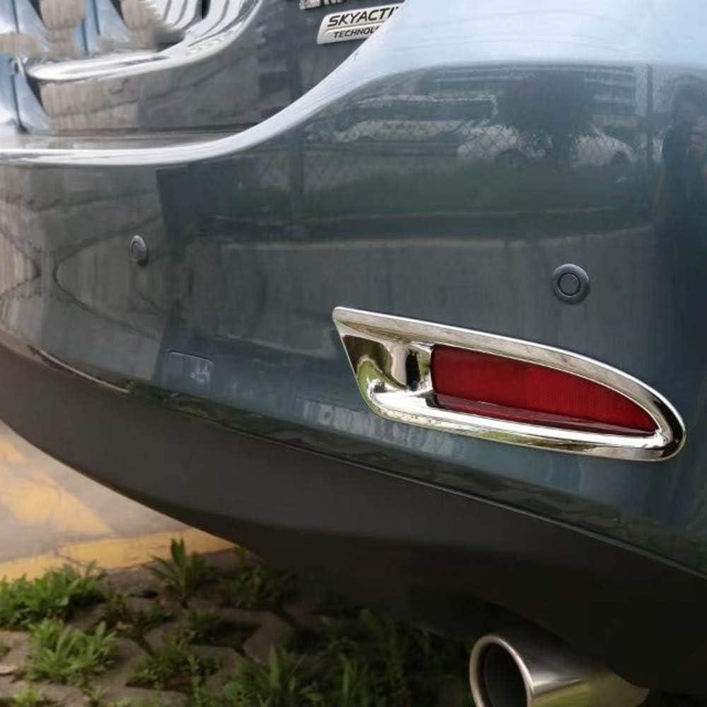vitesurz For Mazda 6 M6 Atenza 2017 2018 ABS Chrome Rear Reflector Fog Light Lamp Cover Trim Bezel Frame Garnish