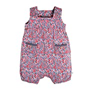 Burt's Bees Baby Baby Girls' Romper Jumpsuit, Short Sleeve One-Piece Coverall, 100% Organic Cotton, Ditsy Foral, 12 Months