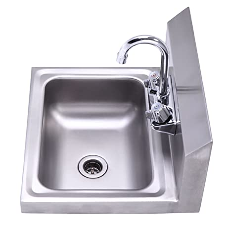 Amazon.com: Commercial Wall Mount Stainless Steel Hand Wash Sink ...