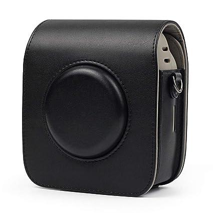 Estuche para cámara, Funda Protectora de cámara clásica y Retro, Funda de Piel con Correa extraíble, Funda Protectora para FUJIFILM Instax Square SQ20