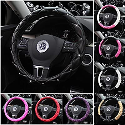 Steering Wheel Cover Car Shade,Cotton,15 Inch