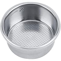 Stainless Steel Coffee Filter, Double Cup Coffee 51mm non-pressurized Porous Filter Basket For Breville Delonghi Krups