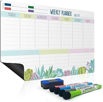 Weekly Meal Planner Magnetic Weekly Planner Fridge Whiteboard Family Planner