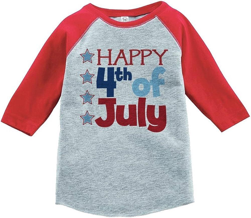 Custom Party Shop Happy 4th of July Raglan Tee