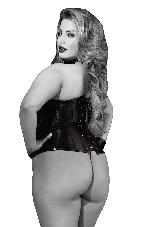 87795d09878 Naughty Bitz Sexy Black Faux Leather Criss Cross Strappy Halter Neck  Dominatrix Plus Size Curvy Ladies  Amazon.co.uk  Clothing