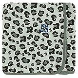 Kickee Pants Little Girls Print Swaddling Blanket - Aloe Cheetah Print, One Size