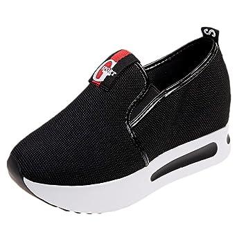 Zapatos sin correa para mujer,Sonnena Aumento de los zapatos de net Zapatos Casuals de mujer Zapatillas de plataforma gruesa y transpirable con plataforma ...