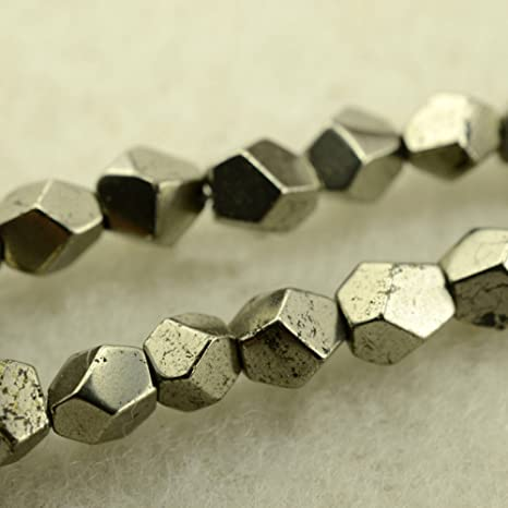 Pcs Frosted  Gemstones DIY Jewellery Making Pyrite Round Beads 8mm Pale Gold 40