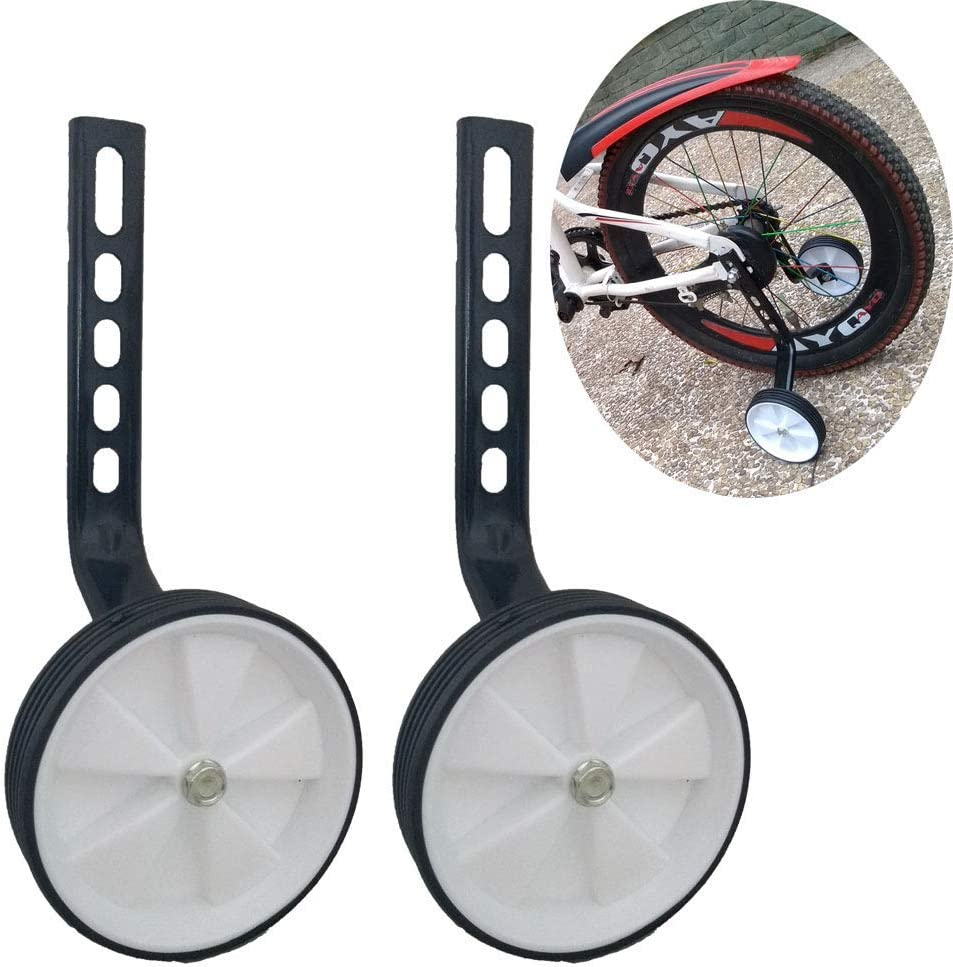 Mehome Bicycle Training Wheels for 12 14 16 18 20Inch,Kids Bike Stabiliser White New