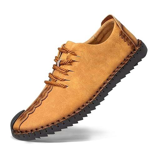Zapatos de cuero casual de los hombres Zapatos Planos con Cordones hombre Oxford vestido mocasines zapatos de negocios hechos a mano mocasines de ...