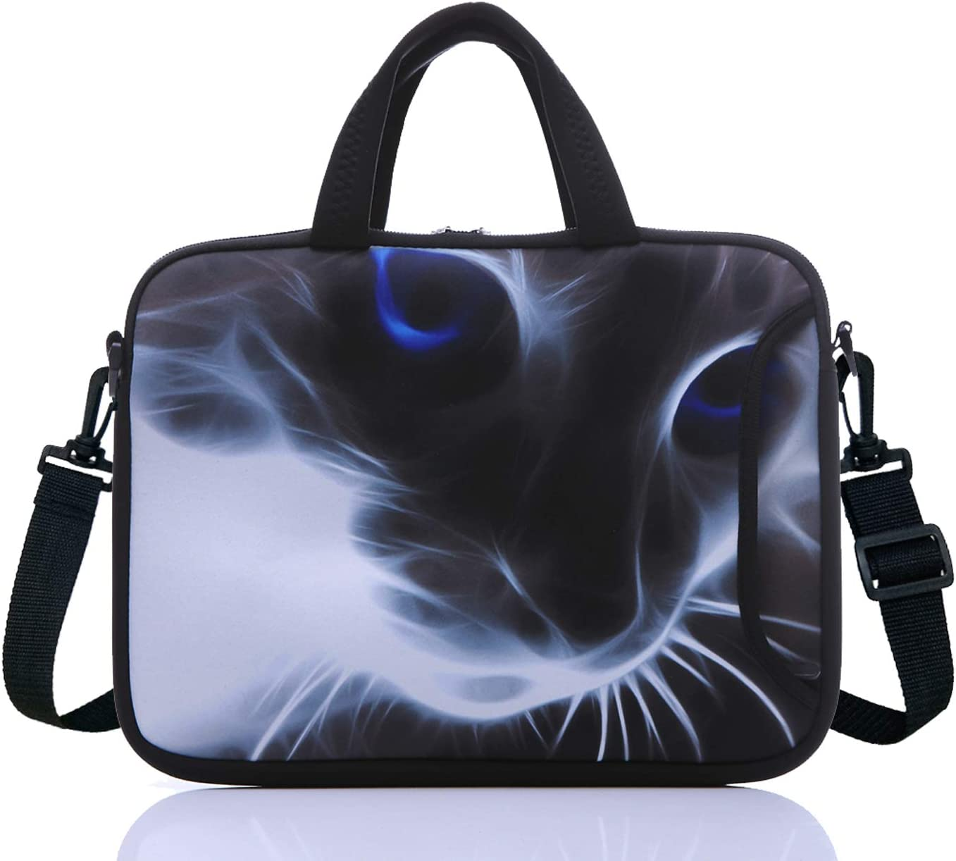 """Soft Neoprene Handle Shoulder Strap Sleeve Case Cover for 14/"""" Laptop Ultrabook"""