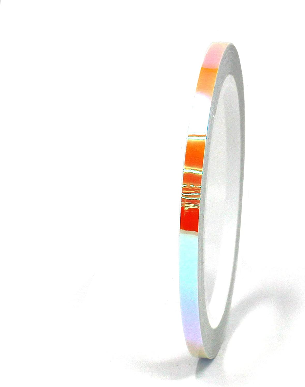 FF3 Gr/ün//Orange, 40mm Breite 10 Meter Flip Flop Chrom Zierstreifen Basteln Effektfolie Hologramm Chameleon Auto Motorrad Modellbau Klebestreifen
