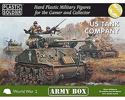 Amazon com : 15mm US Tank Company Army 1944 (BLACK BOX
