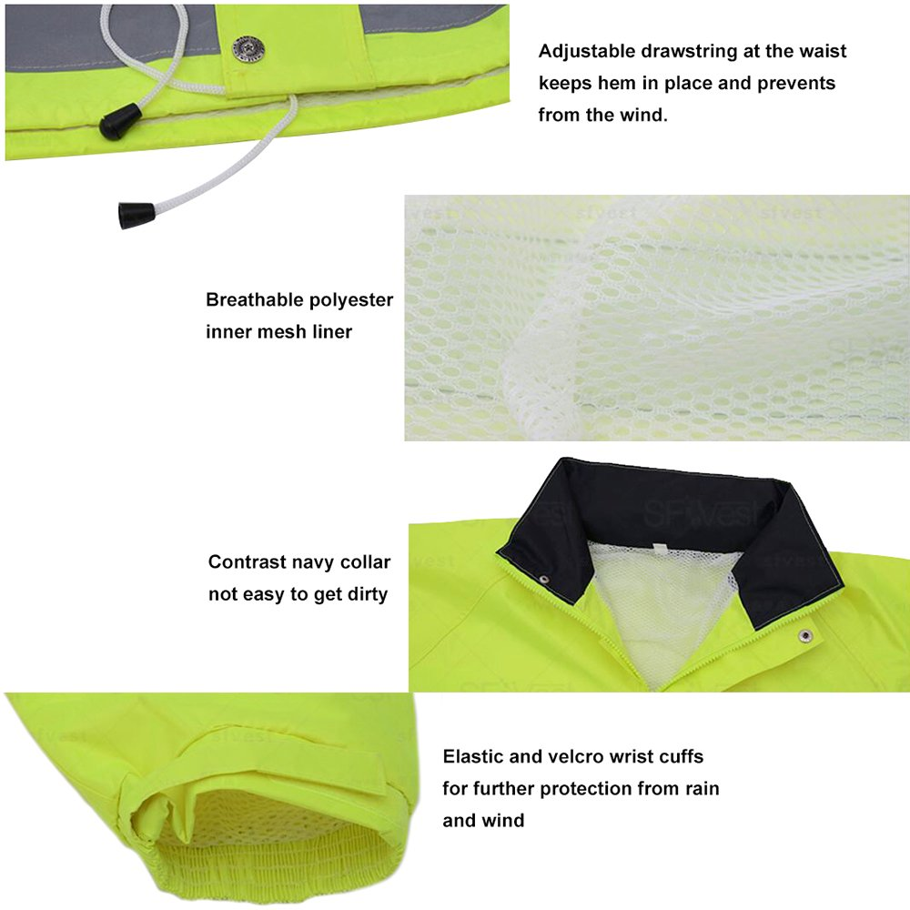 TOPTIE 50 PCS Men's Polo Shirts, Short Sleeve Safety Neon Yellow Shirt for Night Running Wholesale by TOPTIE (Image #6)