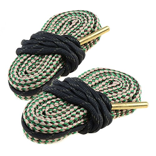 2-Pack Bore Cleaning Rope AR Rifle Shotgun Carbine Pistol Bore Cleaner for 9mm 5.56mm .223 .22 .308 12Gauge Caliber(Choose More Calibers)