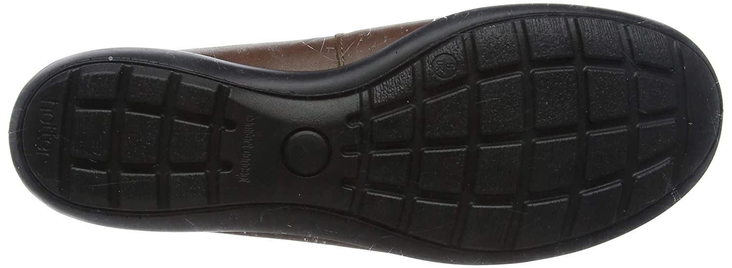 Hotter Abbeyville Womens UK 7 /& 8 STD Black Leather Slip On Loafer Flats Shoes