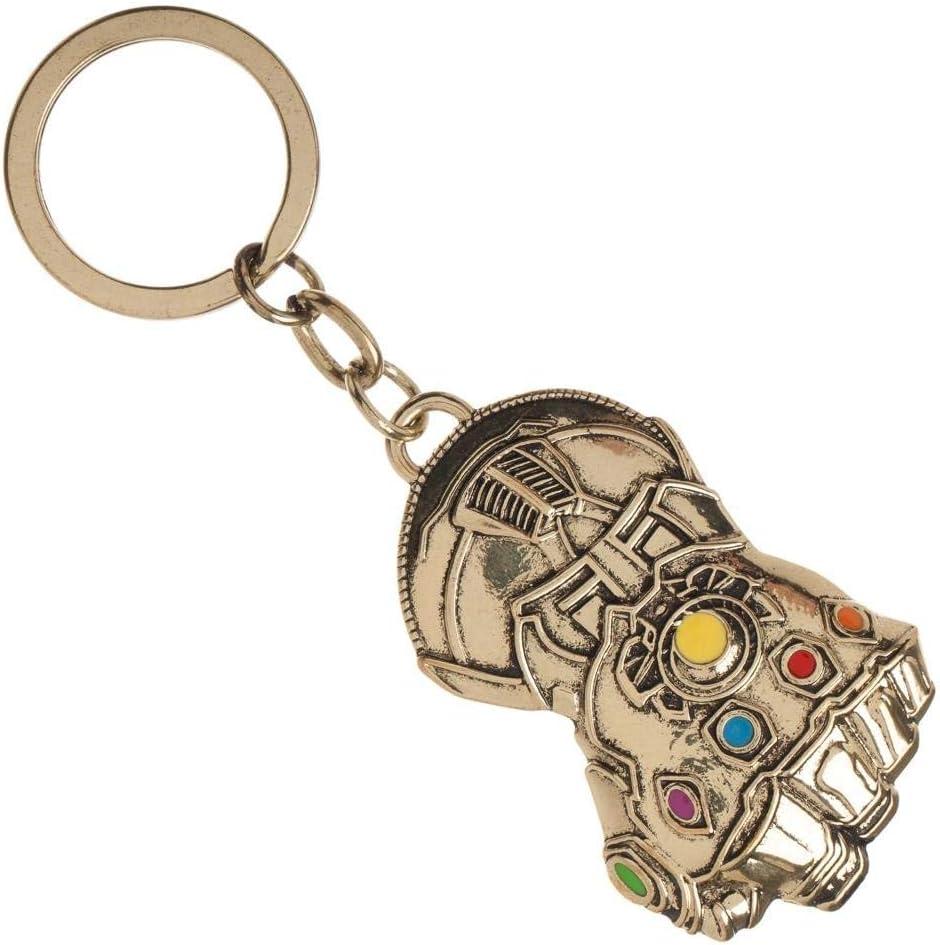 Marvel Avengers Endgame IRON MAN Infinity Gauntlet RED GOLD Keychain Key chain