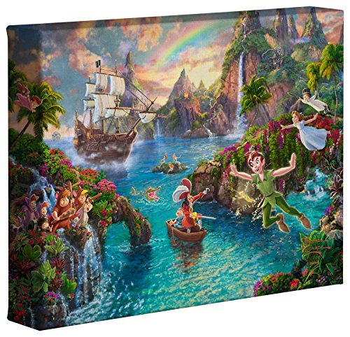 Disney Canvas Art - Thomas Kinkade Studios Peter Pan's Neverland 8 x 10 Gallery Wrapped Canvas