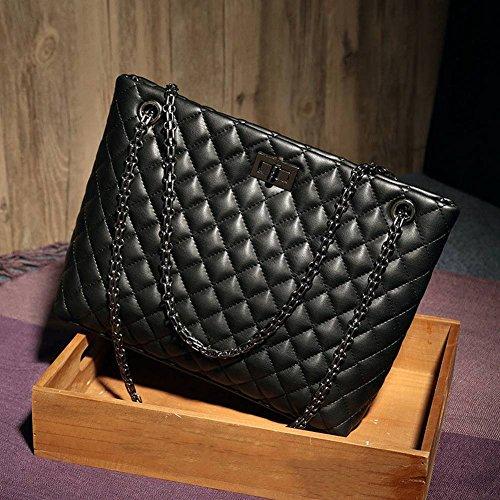 à YTTY Chaîne Sac Main à Décontracté de Noir Bandoulière Sacs Femme Sac Épaule Ling Mode Diagonale Chaîne 4qY4UBS