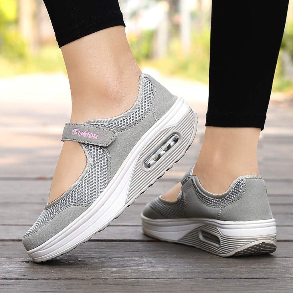 GATIK NPRADLA Femmes Chaussures De Mode Casual Respirant Léger Net Surface Plate-Forme Chaussures Sport Chaussures De Course Gris