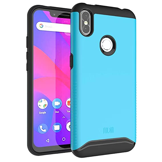 "finest selection 6765d 05c26 BLU R2 Plus 2019-6.2"" Case, TUDIA Slim-Fit Heavy Duty [Merge] Extreme  Protection/Rugged but Slim Dual Layer Case for BLU R2 Plus 2019-6.2"" (Blue)"