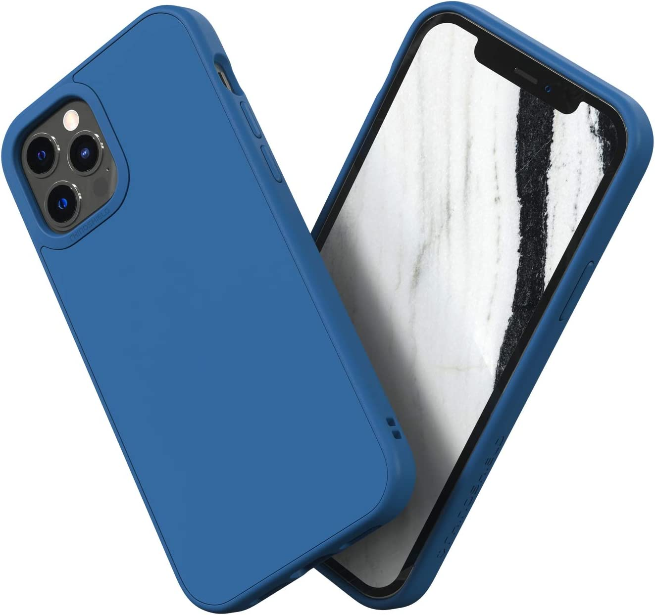 RhinoShield Case Compatible with [iPhone 12/12 Pro] | SolidSuit - Shock Absorbent Slim Design Protective Cover with Premium Matte Finish 3.5M / 11ft Drop Protection - Royal Blue