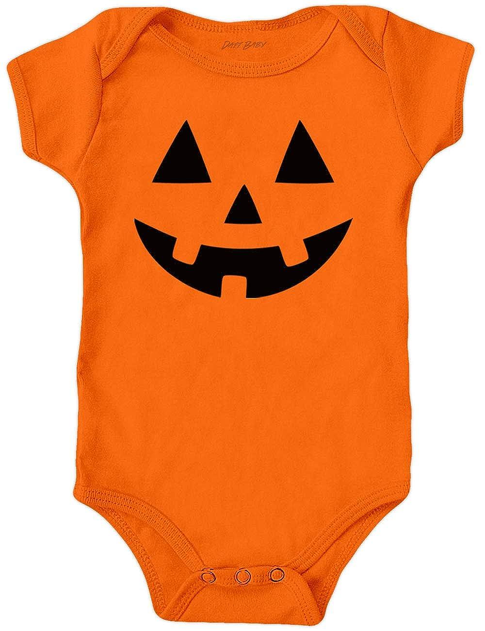 Babys First Halloween Costume Bodysuits, Jack O' Lantern, Pumpkin Face, Rib Cage Clothes Jack O' Lantern