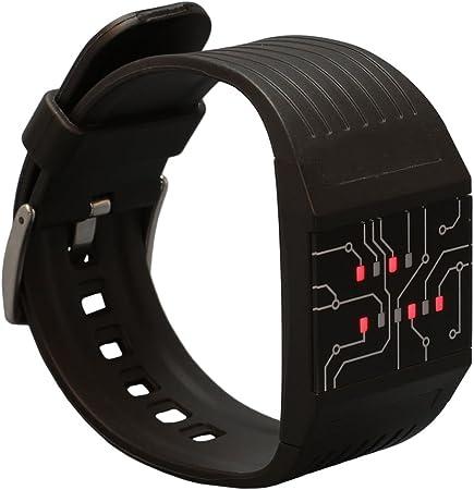 getDigital 7235 - Reloj Digital que Marca la Hora en Modo Binario para Profis, con Luces LED, Negro: Amazon.es: Hogar
