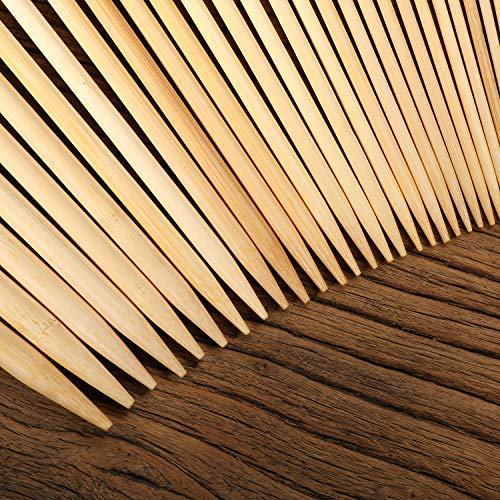 9 Inches Length for Handmade Creative DIY 18 Sizes from 2.0mm-10.0mm Single Pointed Carbonized Knitting Needles BetyBedy 36PCS Bamboo Knitting Needles Set