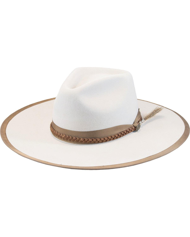 Justin Men's Buck 7X Fur Felt Magnificent Hat Ivory 7 3/8
