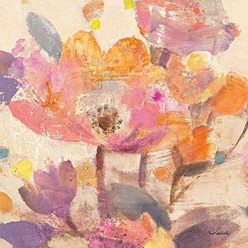 Vibrant Crop I Albena Hristova Flower Floral Contemporary Blossom Print Poster 18x18