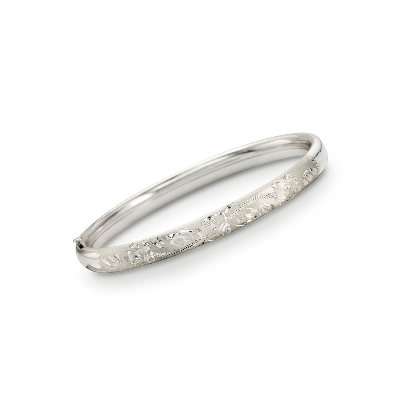 Ross-Simons Childs Sterling Silver Engraved Bangle Bracelet