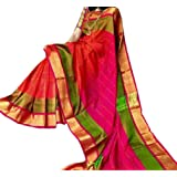 Fashion Flowerz Original Andhra Uppada Pure Silk Sarees With Blouse For Women Multicolored