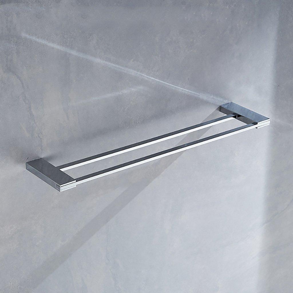 タオルラックウォールマウントウォールマウント銅タオルロッドダブルポールタオルラックのドアの浴室のキッチン B07D9LBKFQ