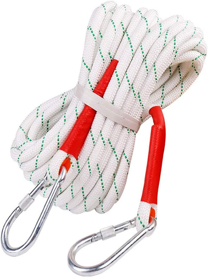 16mm Color : 20mm, Size : 50m Jingdun Outdoor Safety Rope Wear-Resistant Aerial Work Rope Rescue Rescue Rope Double-Layer Weaving 20mm Contain Steel Wire Ropes Without Steel Wire