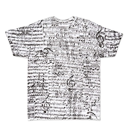 ComputerGear Music Notes T Shirt Musical Score Adult Cotton Men Women Tee, L