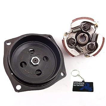 STONEDER 25H 6T Caja de Cambios para Batería W Embrague para 47 49 CC Pocket Quad ATV Mini Dirt Bike Moto: Amazon.es: Coche y moto