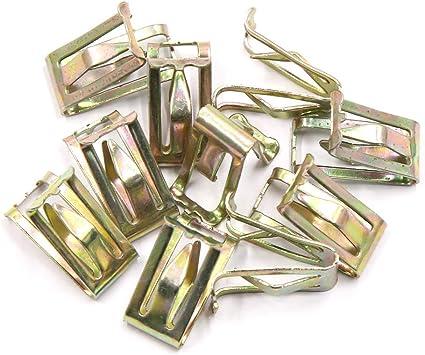 Clip di fissaggio in metallo per cruscotto auto 13 x 17 mm 10 pezzi X AUTOHAUX